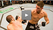 The iron-chinned Nate Diaz dares Cowboy Cerrone to knock him out... if he knows what's good for him.