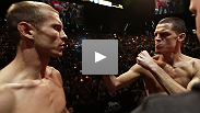 "The bad blood continues to course through lightweight opponents Nate Diaz and Donald ""Cowboy"" Cerrone - see their staredown from the UFC 141 weigh-in here."