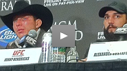 After all the trash talk leading up to their bout, Nate Diaz and Donald Cerrone break down their fight and show mutual respect at the post-fight press conference.