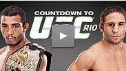 UFC featherweight champion Jose Aldo, Jr. prepares to fight at home for the first time in years, while blue-chip wrestler and challenger Chad Mendes readies himself to bring home a belt from Brazil.