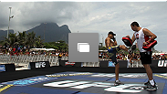 UFC 142 Open Workouts at Barra de Tijuca Beach on January 11, 2012 in Rio de Janeiro, Brazil.  (Photo by Josh Hedges/Zuffa LLC/Zuffa LLC via Getty Images)