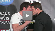 Watch the UFC on FOX: Evans vs. Davis press conference featuring verbal warfare between Rashad Evans and Phil Davis, the inimitable Chael Sonnen with belt in tow, and more.