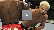 Josh Koscheck puts an emphatic end to his grudge match with Anthony Johnson, utilizing his wrestling skills to set up a rear naked choke.