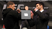 UFC 143 final pre-fight press conference at the Mandalay Bay Hotel & Casino on February 2, 2012 in Las Vegas, United States.  (Photo by Josh Hedges/Zuffa LLC/Zuffa LLC via Getty Images)