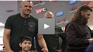 "UFC® stars Chuck Liddell, Roy ""Big Country"" Nelson, and Mike Pyle visit the Richard Steele Health and Wellness Center to donate MMA equipment to Vegas-area kids."