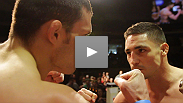 Two of the most intense fighters in the UFC prepare for a welterweight war at the UFC on FUEL TV weigh-in - see the faceoff between headliners Diego Sanchez and Jake Ellenberger.