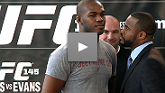 Video of the UFC 145 press conference with UFC president Dana White, UFC lightweight champion Jon Jones, and his former teammate-turned-rival, former light heavyweight champion Rashad Evans.