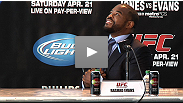 Smiling rivals Jon Jones and Rashad Evans answer fan and media questions about their rivalry, their training, and why they can't wait to settle things in Atlanta.