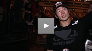 Despite a dominant win over Bart Palaszewski, Hatsu Hioki says he still just wants to improve and get back in the Octagon and fight.