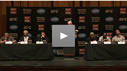 The stars of UFC on FOX Diaz vs Miller and Dana White convene at Radio City Music Hall in New York City to answer questions from the press and fans about the upcoming card.
