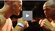 "See the UFC on FX staredown between welterweight headliners Thiago ""Pitbull"" Alves and Martin ""Hitman"" Kampmann."