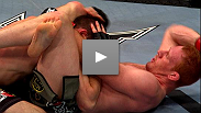 BJJ ace Mark Bocek makes Dustin Hazelett tap with a crushing triangle choke at UFC® 124.