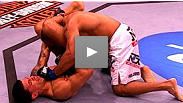 TUF vet DaMarques Johnson overcomes violent ground and pound from Edgar Garcia to secure a fight-ending triangle choke at UFC® 107.