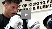 Standup warriors Brian Stann and Alessio Sakara work out for the media before their co-main event at UFC&reg;: Gustafsson vs. Silva.