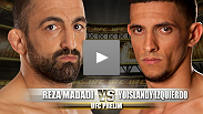 Former Swedish National wrestling champ Reza Madadi moved to MMA and won six bouts in a row. Yoislandy Izquierdo began by studying karate. 16 years later, Izquierdo has won all six of his MMA bouts, and now steps into the Octagon for the first time.
