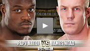 Papy Abedi debuted in the Octagon with an impressive effort that made him a fighter to watch. But before we crown a new welterweight contender, newcomer James Head will look to spoil things for Abedi withhis submission game and finishing power.