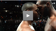 With just 24 hours before go-time, Jon Jones and Rashad Evans come face-to-face at the UFC 145 weigh-in and things turn predictably tense.