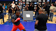 Fighters train for the media during UFC 145 open workouts at GSU Sports Arena on April 19, 2012 in Atlanta, Georgia.  (Photo by Kevin C. Cox/Zuffa LLC/Zuffa LLC via Getty Images)