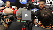 Go behind the scenes of the UFC 145 open workouts with UFC light heavyweight champion Jon Jones and challenger Rashad Evans.