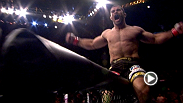 Rousimar Palhares utilizes his signature move - the leg lock - to secure a victory over Mike Massenzio at UFC® 142.