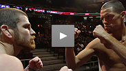 Watch the face-off from the UFC on FOX weigh-in between headlining lightweights Nate Diaz and Jim Miller.