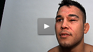 A battered Brad Tavares discusses his win over Dongi Yang, and shows off his war wounds.
