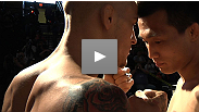 "Watch the UFC on FUEL TV weigh-in staredown between featherweights Chan Sung Jung aka ""The Korean Zombie"" and Dustin ""The Diamond"" Poirier."