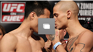 El pesaje oficial de UFC on Fuel TV: Korean Zombie vs Poirier en el Patriot Center el 14 de Mayo en Fairfax, Virginia. (Fotos por Josh Hedges/Zuffa LLC/Zuffa LLC via Getty Images)