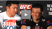 Chan Sung Jung, Dustin Poirier, and Donald Cerrone answer questions from media at the UFC on FUEL TV post-fight press conference.