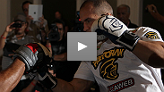 Big men, massive power - see highlights from the UFC 146 all-heavyweight open workouts at MGM Grand.