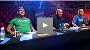 See the TUF Brasil final matchups between featherweights GodoFredo Pepey and Rony &quot;Jason&quot; Mariano Bezerra and middleweights  and Sergio &quot;Serginho&quot; Moraes. Sarafian was injured and will be replaced at UFC 147 by Cezar &quot;Mutante&quot; Ferreira.