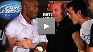 The fireworks came a day early, as Anderson Silva and Chael Sonnen nearly come to blows at the pre-fight press conference for UFC&reg; 148.