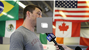 Forrest Griffin holds an open workout session for media ahead of his UFC 148 fight against Tito Ortiz at the Robert Drysdale Jiu Jitsu Gym on June 26, 2012 in Las Vegas, Nevada.  (Photo by Josh Hedges/Zuffa LLC/Zuffa LLC via Getty Images)