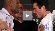 Chael Sonnen sounds off as Dana White and middleweight champion Anderson Silva try not to laugh at the UFC 148 pre-fight press conference.