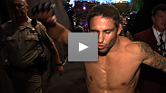"Chad Mendes earns the first stoppage win of UFC 148, dropping Cody McKenzie with a body punch. Hear ""Money's"" thoughts on"