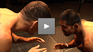 Elite wrestlers and main eventers Mark Munoz and Chris Weidman go back to basics at the UFC on FUEL TV weigh-in staredown.