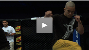 See the stars of the UFC on FUEL TV: Munoz vs. Weidman prelims getting a feel for the Octagon inside HP Pavilion in San Jose.