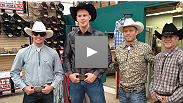 UFC stars Stefan Struve, Rory MacDonald, Mark Hominick and Nick Ring get cowboy makeovers at the Calgary Stampede