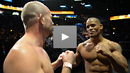 Middleweight Tim Boetsch welcomes Hector Lombard to the UFC tomorrow night in the co-main event of UFC 149 - watch their staredown from the weigh-in.