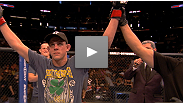 """I had a lot of fun."" Joe Lauzon adds two more Fight Night bonuses to his impressive collection, using a triangle choke to finish Jamie Varner after an epic war. ""J-Lau"" talked about how he set up the fight-ending submission."
