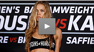 SHOWTIME Sports and Heidi Androl talk with Ronda Rousey after her 54 second win by armbar over Sarah Kaufman.