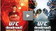deadmau5 and Gerard Way of My Chemical Romance engage in a futuristic Ultimate Fighting Championship® (UFC®) bout, where both parties battle it out in a post apocalyptic Octagon™.