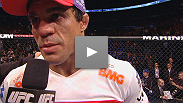 Humble in defeat, former UFC® light heavyweight champion Vitor Belfort speaks with Joe Rogan following his loss at UFC® 152.