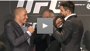 Watch the UFC 154 ticket press conference with Georges St-Pierre and Carlos Condit