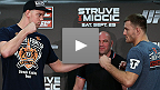 Coletiva de imprensa pr&eacute;-UFC: Struve x Miocic