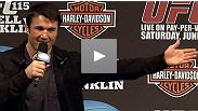 "Listen to the media conference call with current UFC® light heavyweight champion Jon ""Bones"" Jones and top contender Chael Sonnen - audio only"