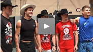 Colby Yates, Brendon Clark, and Ross Coleman of PBR go through some MMA training and sparring with Donald Cerrone and Mike Pyle.