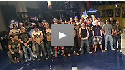UFC Heavyweight Champion Antonio Nogueira and opposing coach Frank Mir greet this season's 32 Light Heavyweight and Lightweight fighters, each of whom must prove themselves in tournament bouts before they can go on to compete for 2 UFC contracts.
