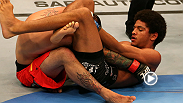 Alex Caceres proves he's dangerous from his back, submitting veteran Damacio Page with a triangle choke at UFC on Fuel 4: Munoz vs. Weidman.