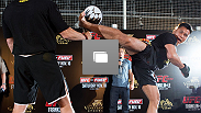 UFC® press conference and open workout at Harbour City Mall on November 7, 2012 in Hong Kong, Hong Kong.  (Photo by Josh Hedges/Zuffa LLC/Zuffa LLC via Getty Images)